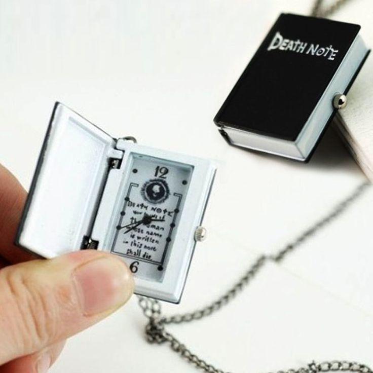 Excellent Quality New Unique Death Note Necklace Pocket Watch Necklace Chain Gift Bronze Pocket Watch Necklace Chain Gift