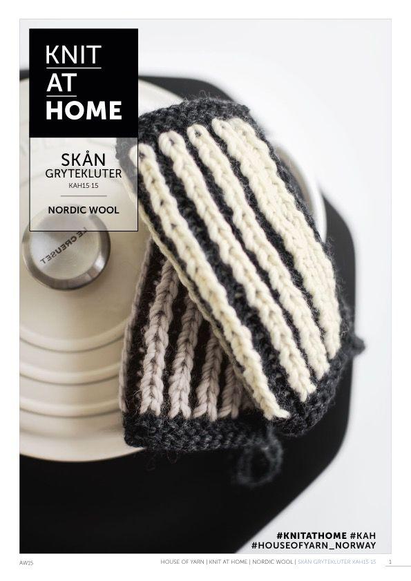 15-15 SKÅN GRYTEKLUTER | free knitting pattern | pot holders | knitted pot holders | brioche stitch | knitted interior | knitting pattern | chunky knits