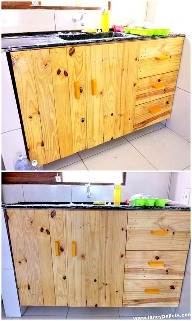 Pallets Kitchen Cabinet Wooden Pallet Furniture Pallet Furniture Diy Furniture