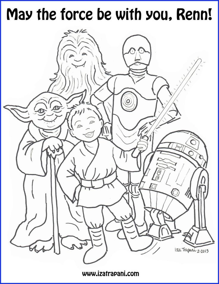 coloring pages star wars sk p google - Yoda Coloring Pages