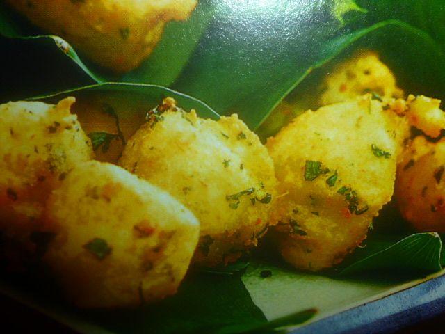 ricette con zenzero - crocchette ai gamberetti