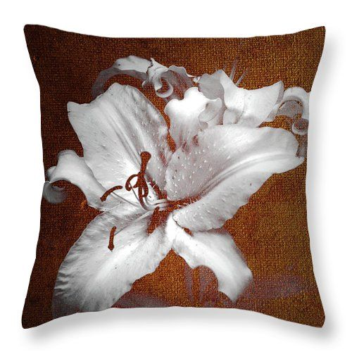 Jenny Rainbow Fine Art Photography Throw Pillow featuring the photograph Vintage White Lilies by Jenny Rainbow