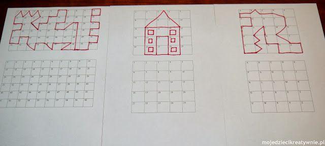 edukacja domowa, numeryczne kwadraty, liczymy, kolorujemy, mała motoryka, wczesna edukacja.