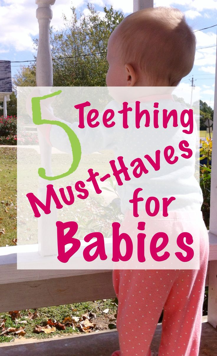 5 Teething Must-Haves for Babies -- Is your little one struggling with the awful, dreaded teething stage? You're not alone. And thank goodness there are some things you can do to help make this rough growing time a liiiiiittle bit easier! Know that there ARE some things you can do to help. Click here for five things that definitely ease the teething troubles and reduce the tears.