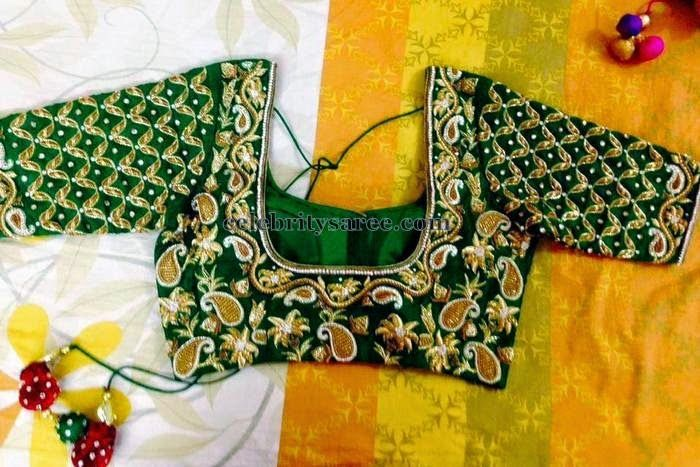 Mango Design Elbow Length Blouse | Saree Blouse Patterns