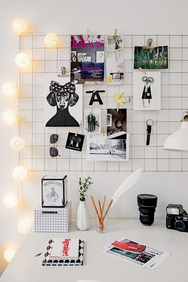 Bring your favorite Pinterest board to life with a wire display.