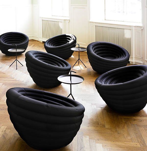 The Blow Lounge Chair by Hay. This is the invention of designers Foersom and Hiort Lorenzen. | Furniture Fashion