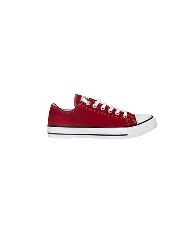 Πάνινα αθλητικά παπούτσια, διαθέσιμα σε δύο αποχρώσεις λευκό και κόκκινο. Κάντε τις βόλτες σας απόλαυση με άνετα και μοντέρνα παπούτσια. Ιδανικός συνδυασμός με τζιν και t-shirt για smart casual look.