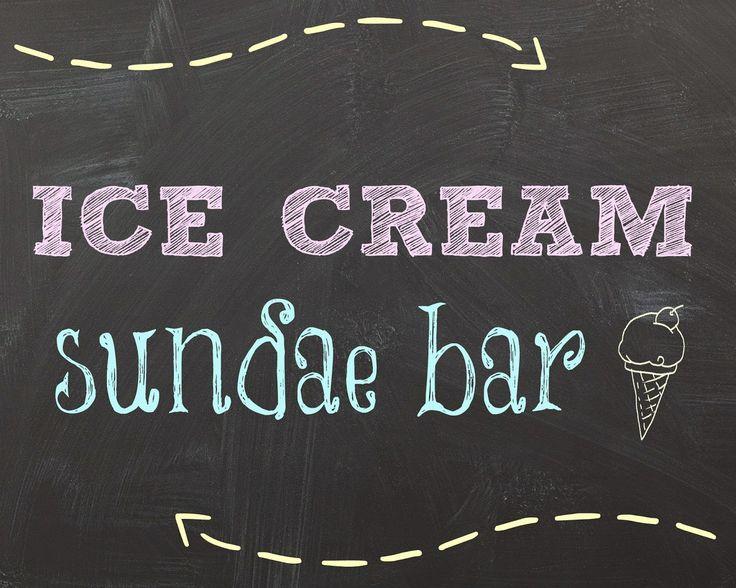 Crafty Confessions Free Ice Cream Sundae Bar Printables