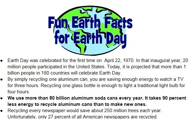 FREE PRINTABLE! READ THESE EARTH DAY FACTS TO YOUR ...
