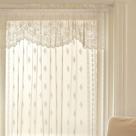 Downton Abbey Milady Window Treatments in Cream