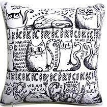 Poduszka z kotami, dodatki - poduszki, poszewki