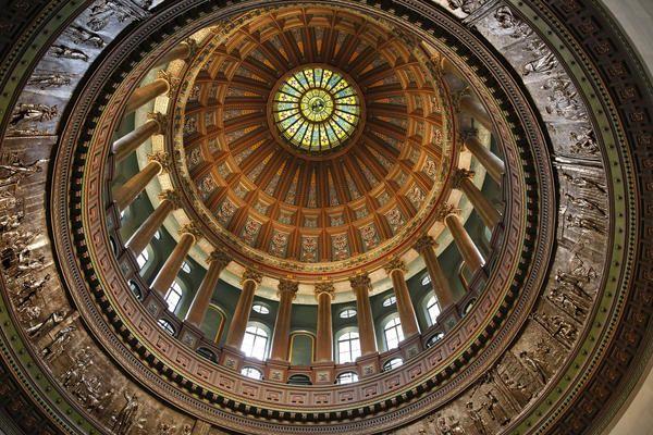 Capitol Dome in Springfield, Illinois