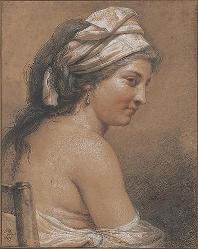 Technique des trois crayons par Adélaïde Labille-Guiard