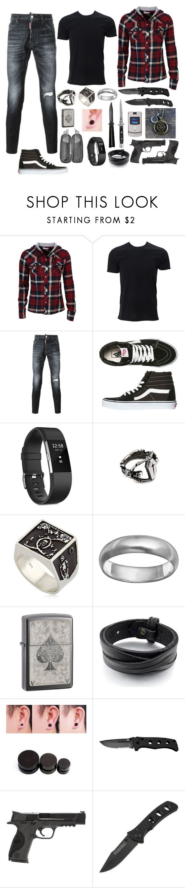 """Untitled #648"" by sammywinchester05 ❤ liked on Polyvore featuring dELiA*s, Simplex Apparel, Dsquared2, Vans, Fitbit, Meadowlark, Sterling, Switchblade Stiletto, Smith & Wesson and Motorola"