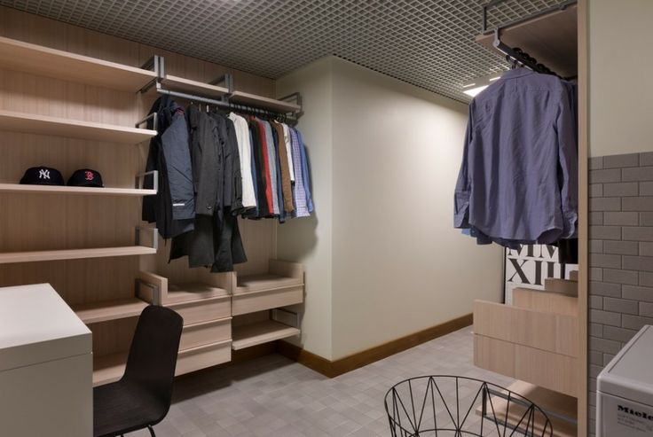 Chic Minimalist Interior in Smart Design: Amazing Wardrobe Design Idea Finished With Best Flooring Unit For Shelving Unit Equipped With Best...