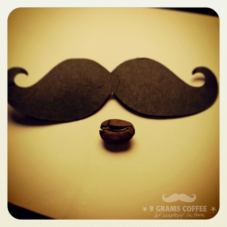 Coffee bean and mustache