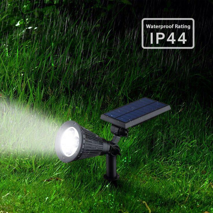 Водонепроницаемый Солнечный Свет Газон для Сада IP44 Автоматическая СВЕТОДИОДНАЯ Лампа Газон Пейзаж Пятно Света Наружное Освещение энергосберегающие