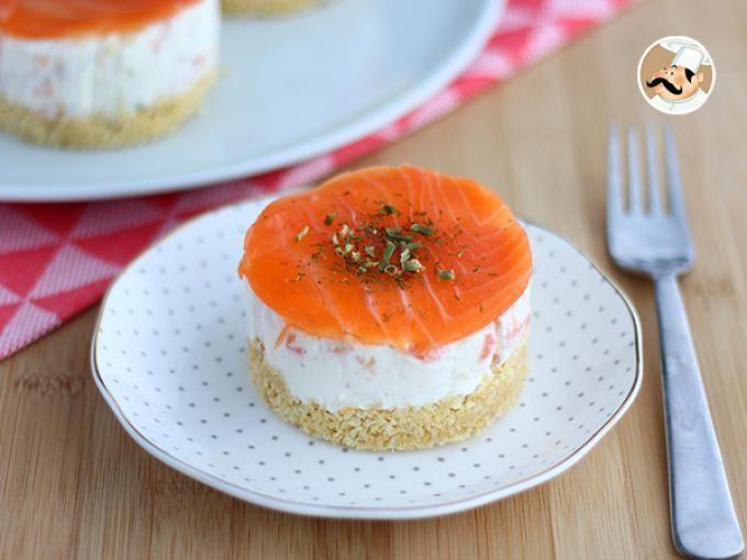 Receta Entrante : Cheesecakes salados de salmón por Petitchef_oficial