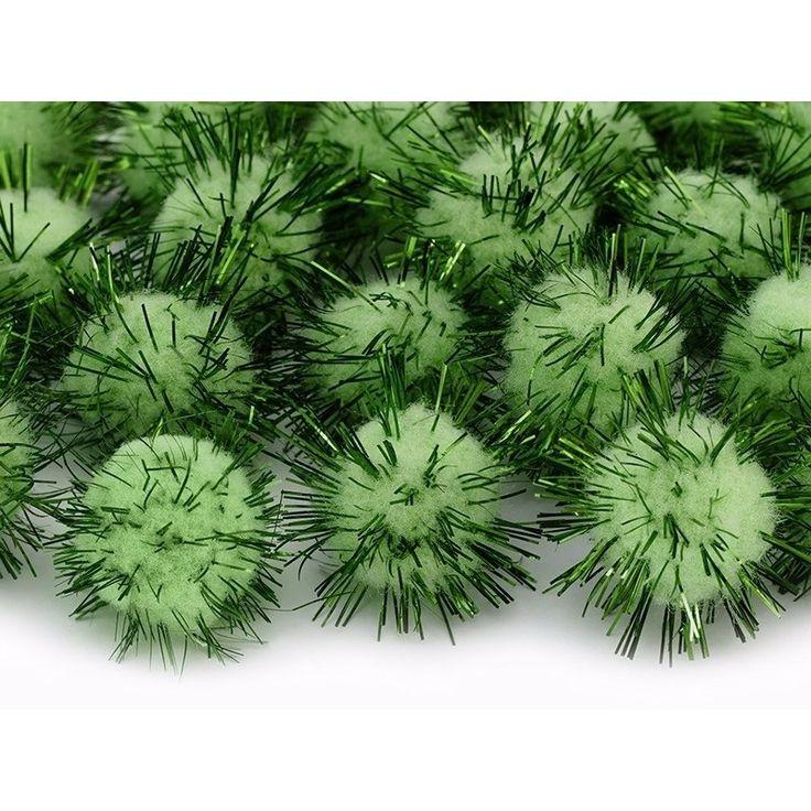 20 appel groene knutsel pompons 20 mm  20 appel groene knutsel pompons 20 mm. Pluche pompoms in groene kleur. De pompoms met groene glitterfolie hebben een diameter van ongeveer 20 mm. Verpakking: 1 pak bevat 20 stuks  EUR 1.25  Meer informatie