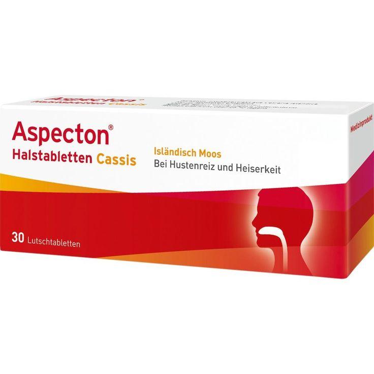 ASPECTON Halstabletten Cassis Lutschtabletten:   Packungsinhalt: 30 St Lutschtabletten PZN: 07020537 Hersteller: Krewel Meuselbach GmbH…