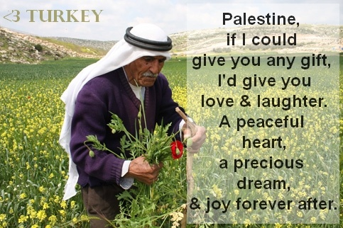 Words of encouragement for Palestine 2014