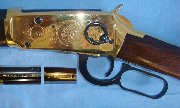MINT, Boxed, Commemorative, Winchester Yellow Boy Indian Saddle Carbine Lever Action Model 94 (1894) In .30-30 Calibre. Sn 11419:14