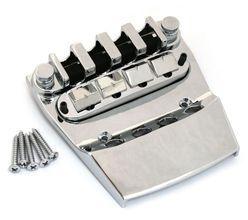 NEW Rickenbacker Bass BRIDGE & TAILPIECE Bass Guitar Parts Chrome