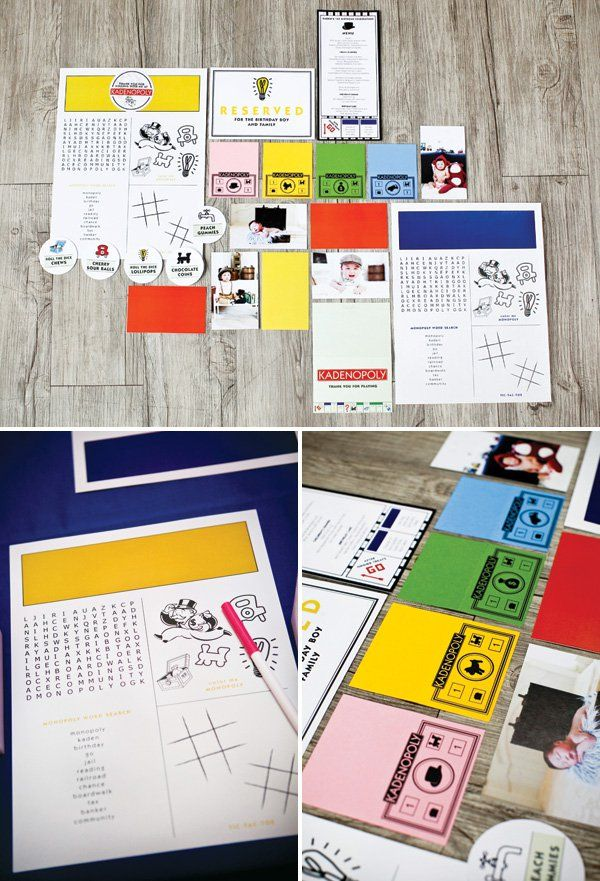 monopoly themed party printables and party favors