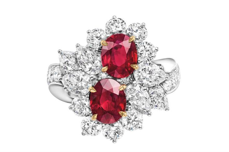Just Harry Winston diamonds and rubies on a ring.