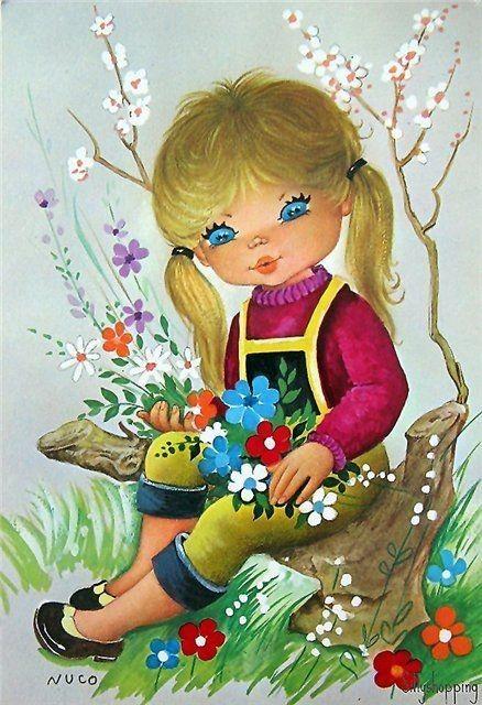 illustrations vintages mignonnes de c - Page 4