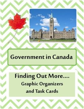 Canada's Government - Finding Out More: 10 Graphic Organiz
