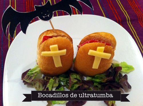 Bocadillos de ultratumba « Cocinar para niños #Halloween Ver la receta http://blogs.mis-recetas.org/recetas-para-ninos/2012/10/24/bocadillos-de-ultratumba/