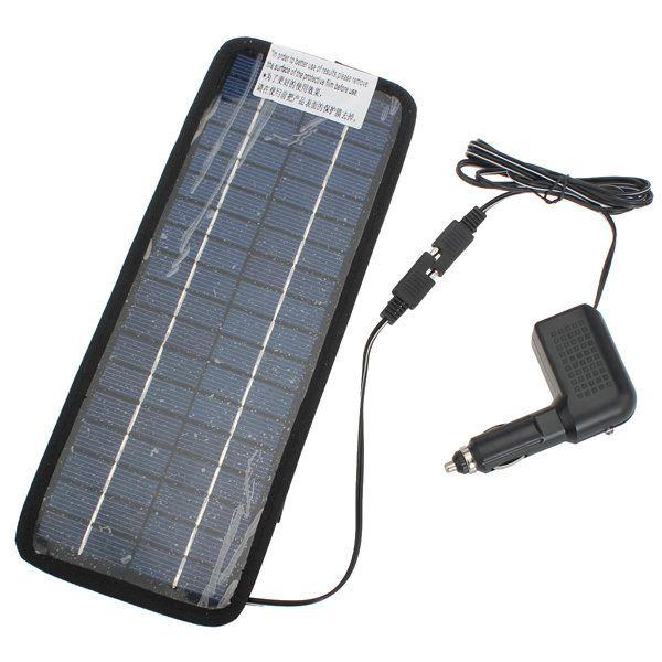 12V 4.5W Solar Power Panel Auto Auto Ladegerät mit der Speicherleitung.