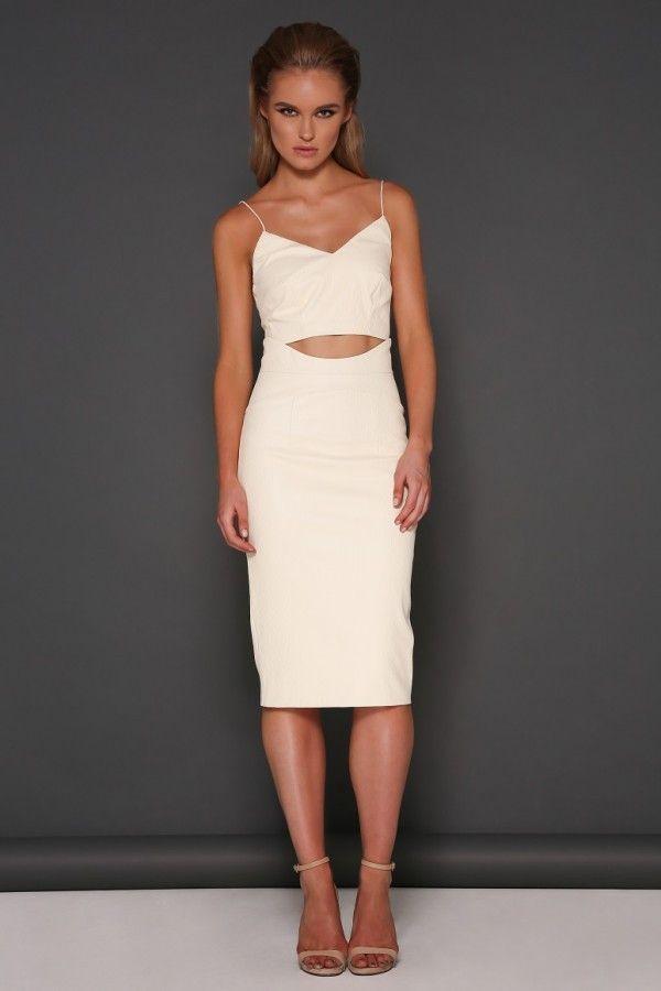Elle Zeitoune  - Jessie Leatherette Skirt - Cream