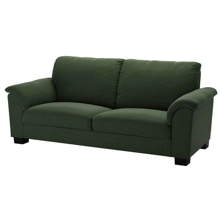 IKEA - TIDAFORS, Sofa, Hensta green, , The high back provides good support for your neck and head.Seat cushions with cold foam and a top layer of memory foam. Molds to the precise contours of your body and regains its shape when you get up.The armrests with extra padding are comfortable to lean against.Durable cover of chenille quality with a slight sheen and a soft feel.10-year limited warrranty. Read about the terms in the limited warranty brochure.