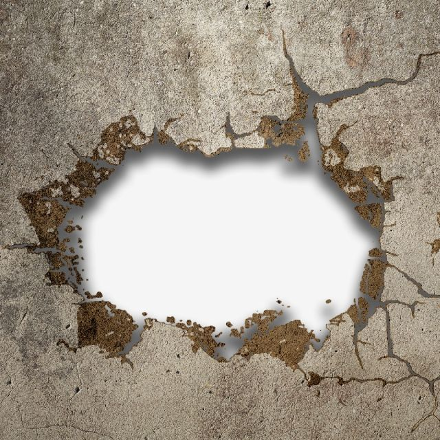 Concrete Wall Breaking Wall Break Effect Png Transparent Clipart Image And Psd File For Free Download Concrete Wall Wall Clock Logo Brick Wall Background