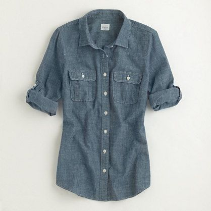 Factory two-pocket chambray shirt - washed shirts - FactoryWomen's Shirts & Tops - J.Crew Factory