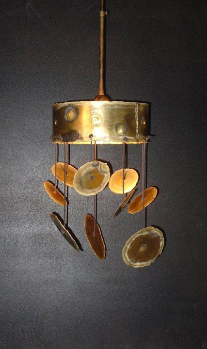 HANGING LAMP  handmade brass ceiling lamp JAZZ by Vroullis on Etsy, €210.00