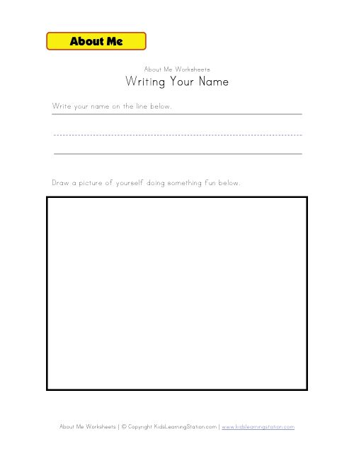 writing name worksheet