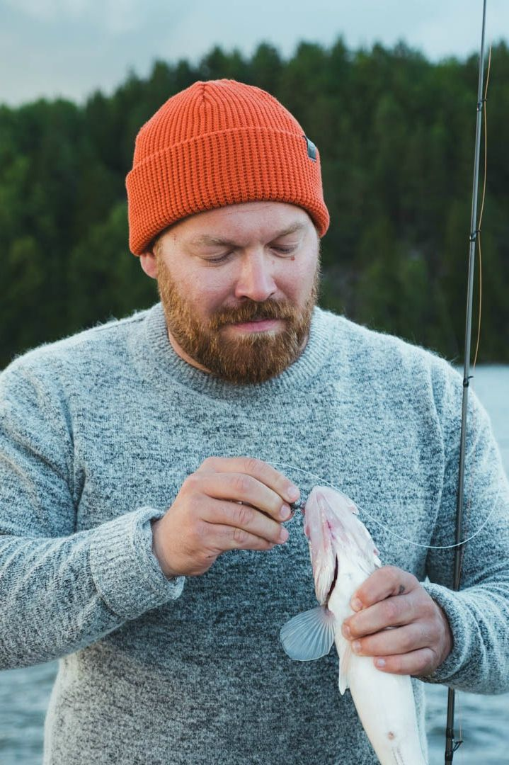 Flyfishing photography. Flyfisher Beanie fro Men by VAI-KØ.