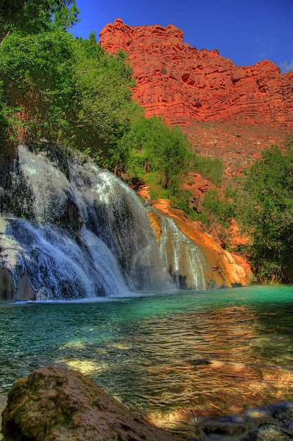 Havasupai Reservation, Navajo waterfall, Grand Canyon