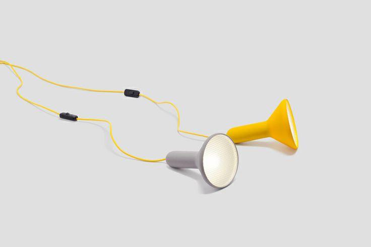YELLOW TORCH LIGHT   DESIGNER SYLVAIN WILLENZ   via Established & Sons