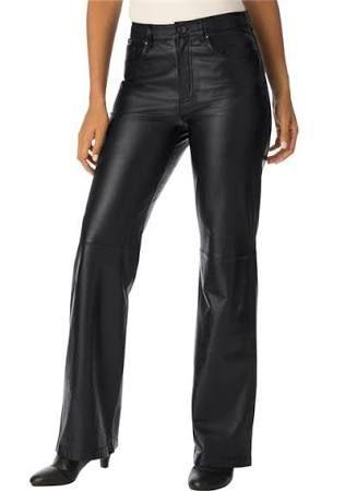 Women's Plus Size Leather Pants