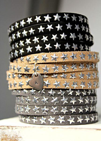 ** Sterne- Armband mit Buchstaben ** von schuys auf DaWanda.com