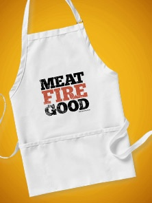 Meat Fire Good Apron, #aprons #gifts #bbq #cooking
