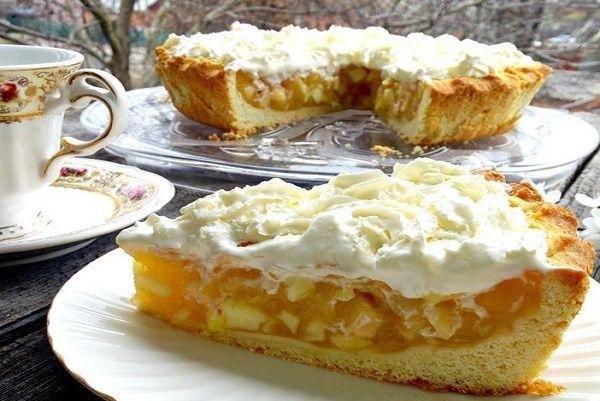 Невероятно ароматный и опьяняющий яблочный пирог. Божественно!  Рассыпчатая вкусная основа и нежная яблочная начинка