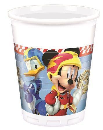Vasitos de cumpleaños decorados para fiesta temática de Mickey Mouse y los súper Pilotos!!  #mickey #mickeymouse #fiestademickey #cumpleañosmickey #mickeymouseparty #mickeybirthday #decoracionfiestamickey #superpilotos #mickeyroadsterracers #fiestamickey #mickeyparty