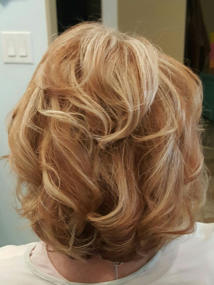 Copper gold and blonde highlights