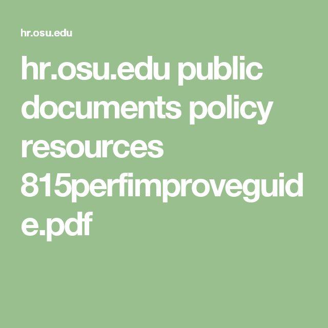 hr.osu.edu public documents policy resources 815perfimproveguide.pdf